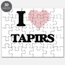 I love Tapirs (Heart Made from Words) Puzzle