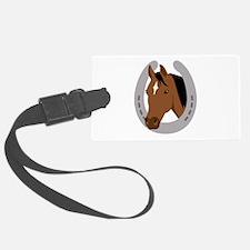 Horseshoe Horse Luggage Tag