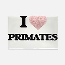 I love Primates (Heart Made from Words) Magnets