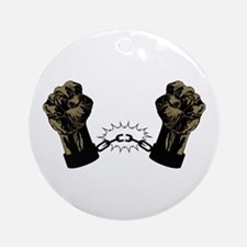 Black Fists Ornament (Round)