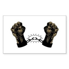 Black Fists Rectangle Decal