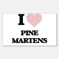 I love Pine Martens (Heart Made from Words Decal