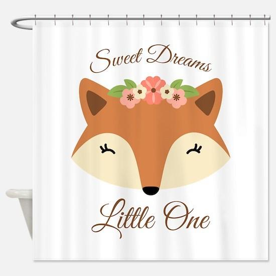 Sweet Dreams Fox Shower Curtain