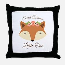 Sweet Dreams Fox Throw Pillow
