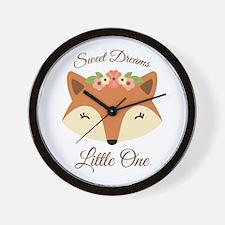 Sweet Dreams Fox Wall Clock