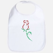 Single Rosebud Bib