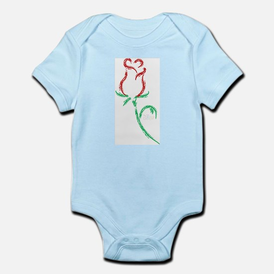 Single Rosebud Infant Creeper