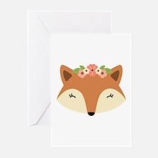 Fox Head Greeting Cards