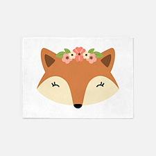 Fox Head 5'x7'Area Rug