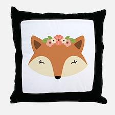 Fox Head Throw Pillow