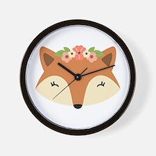 Fox Head Wall Clock
