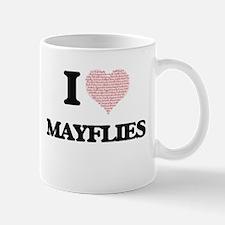 I love Mayflies (Heart Made from Words) Mugs