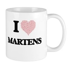 I love Martens (Heart Made from Words) Mugs