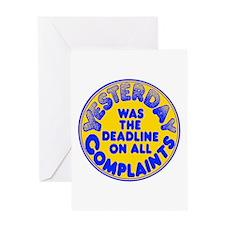 Complaints Deadline - Greeting Card