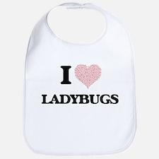 I love Ladybugs (Heart Made from Words) Bib