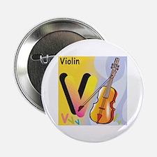 V for Violin Button