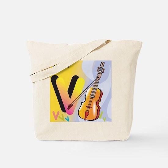V for Violin Tote Bag
