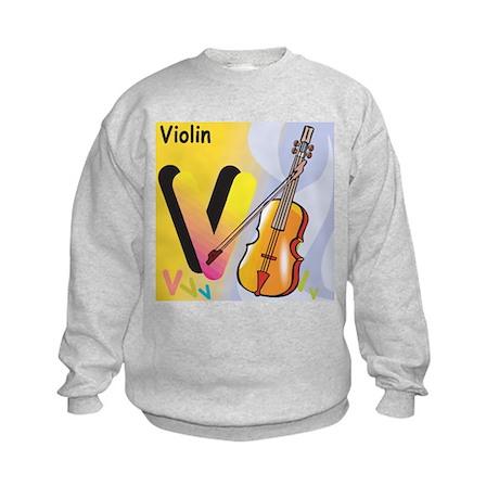 V for Violin Kids Sweatshirt
