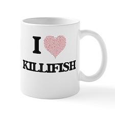 I love Killifish (Heart Made from Words) Mugs