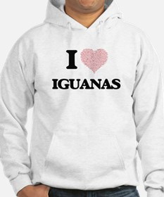 I love Iguanas (Heart Made from Hoodie