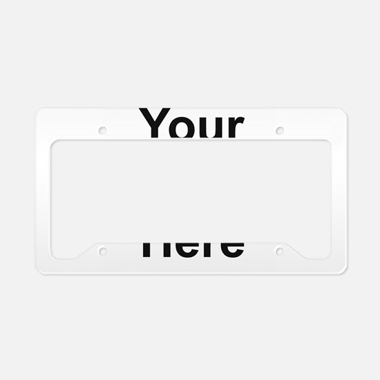 Personalizable License Plate Holder