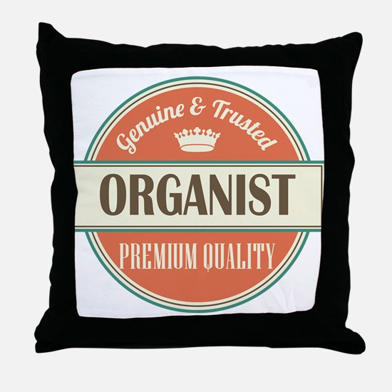 organist vintage logo Throw Pillow