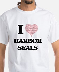 I love Harbor Seals (Heart Made from Words T-Shirt