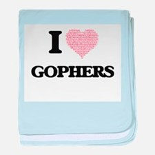 I love Gophers (Heart Made from Words baby blanket