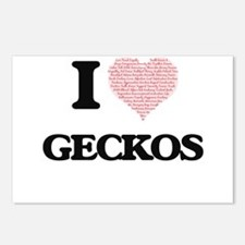 I love Geckos (Heart Made Postcards (Package of 8)