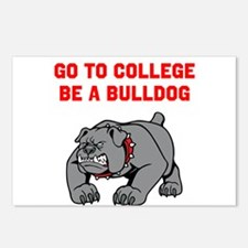 Go to College Be A Bulldog Postcards (Package of 8