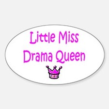 Little Miss Drama Queen Oval Decal