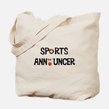 Sports Announcer Tote Bag