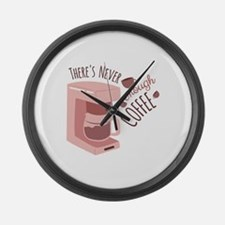 Enough Coffee Large Wall Clock
