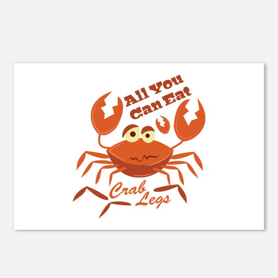 Crab Legs Postcards (Package of 8)