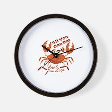 Crab Legs Wall Clock
