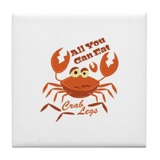 Crab Legs Tile Coaster