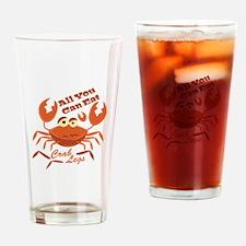 Crab Legs Drinking Glass