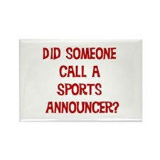 Sports Announcer Rectangle Magnet (10 pack)