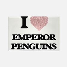 I love Emperor Penguins (Heart Made from W Magnets