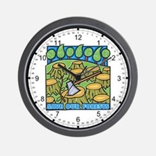 Save Our Forests Wall Clock