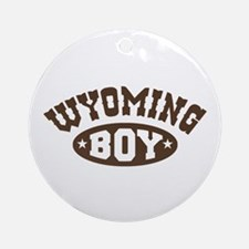 Wyoming Boy Ornament (Round)