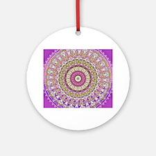 Pretty Hippy pink mandala Round Ornament