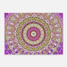 Pretty Hippy pink mandala 5'x7'Area Rug
