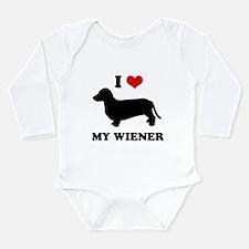 Funny Wiener Long Sleeve Infant Bodysuit