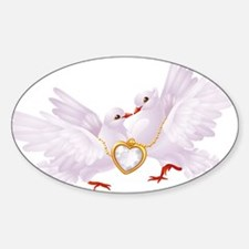 Love doves necklace Decal