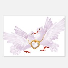 Love doves necklace Postcards (Package of 8)