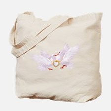Love doves necklace Tote Bag