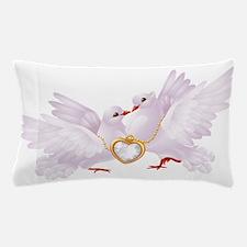 Love doves necklace Pillow Case