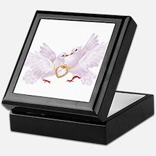 Love doves necklace Keepsake Box