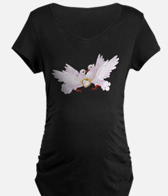 Love doves necklace Maternity T-Shirt